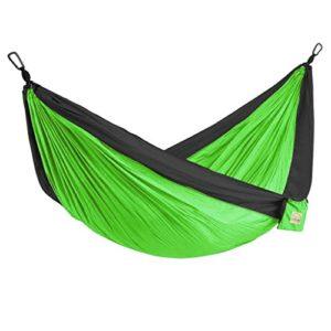 XHHWZB Outdoor Camping Hängematte – Portable Fade-Beweis Nylon Einzel- und Doppel-Hängematte, Leichte Fallschirm Hängematten
