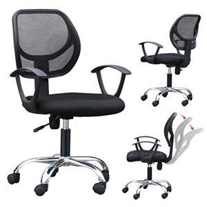 Yaheetech Bürostuhl Drehstuhl ergonomischer Schreibtischstuhl höhenverstellbar Chefsessel mit Rollen Große Sitzfläche…