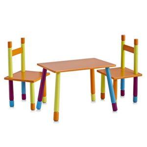 Zeller 13455 Kinder-Sitzgarnitur Color, 3-teilig, MDF / 40 x 60 x 42, 28 x 28 x 53
