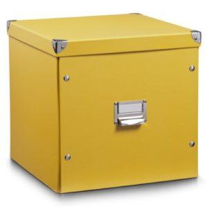 Zeller 17655 Aufbewahrungsbox, Pappe, L 33.5 x B 33 x H 32 cm, mango