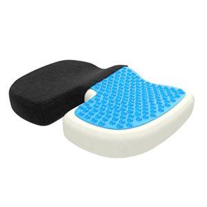 ZenPur Sitzkissen | Orthopädisch Anti-Rutsch Für Steißbein Und Unterer Rücken | Memory Schaumstoff Kissen Mit Innovativer Gelkühlung | Stuhlkissen Perfekt für Auto und Büro