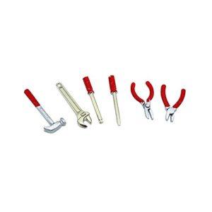 Zmigrapddn Puppenhaus Möbel Zubehör, 1: 61: 12Miniatur 360Werkzeug Kits Hammer Schlüssel Schraubendreher Simulation Modell–Rot