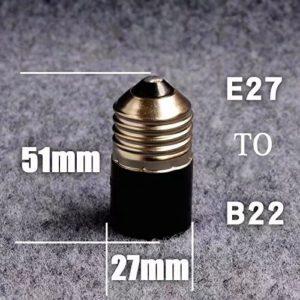 bqlzr Sockeladapter E27 auf E14 für LED-Leuchtmittel, Adapter,