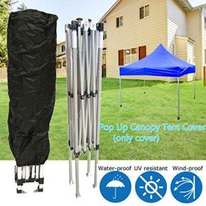 dDanke UV-Block Wasserdichten Bezug Schwarz mit Verstellbarem Seil für Outdoor Pop-up Canopy Zelt Slant Bein…