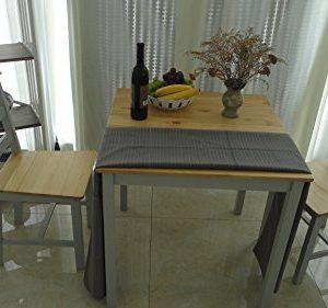 Esstisch Holz massiv Tisch 2Stühle Zeitgenössisches Esszimmer-Set kiefer natur