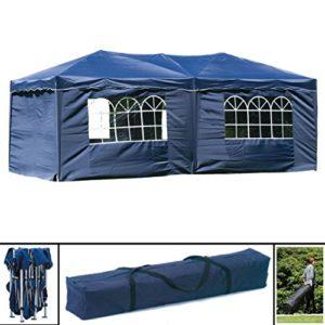 habeig® Wasserdichter Faltpavillon 3x6m Taupe Anthrazit Pavillon inkl. Seiten mit Fenster Partyzelt Stahlverbinder