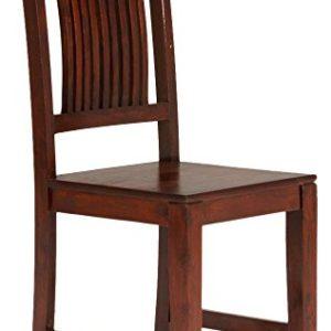 massivum Esszimmer-Stuhl Texas 43x100x43 cm mit aus Palisander und Akazie Massiv-Holz braun lackiert