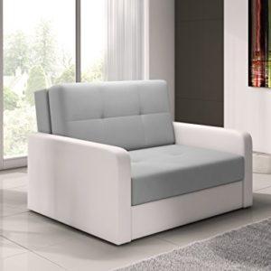 mb-moebel kleines Sofa mit Schlaffunktion und Bettkasten Schlafsessel Gästebett Jugendsessel Couch Bettsofa ERIK02