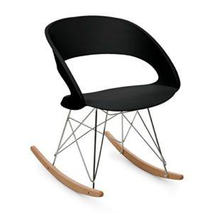 OneConcept Travolta – Schaukelstuhl, Wippstuhl, Wohnzimmerstuhl, 70er-Jahre-Look, Retro-Design, breite Sitzfläche aus…