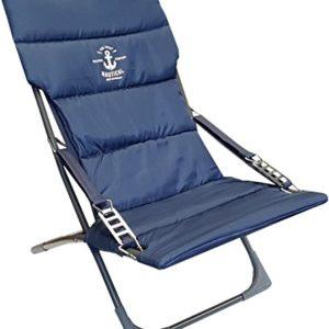 hausratplus osoltus Campingsessel Strandsessel Anker I Armlehne Relax Amrum Blau