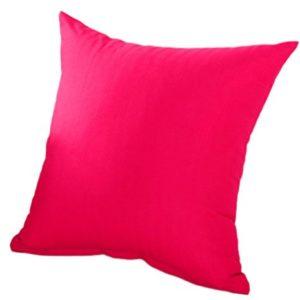 outflower Kissenbezug Kissenhülle Farbe Uni Kissenbezug Kissen Sofa-/Schlafzimmer/Wohnzimmer/Büro/Auto/Sofa (45* 45cm), Rose, 45x45cm