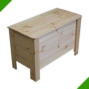 Aufbewahrungskiste Unbehandelt mit Deckel Holztruhe Spielzeugtruhe Spielzeugkiste Wäschebox Holzbox Truhe Allzweckkiste…