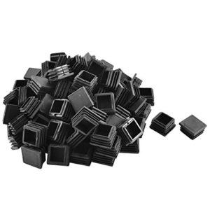 sourcingmap 100 Stk Kunststoff Vierkantrohr Einsätze Ende Abdeckkappen Schwarz 30mm x 30mm