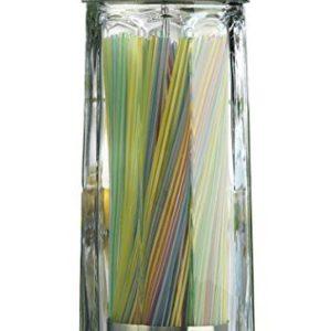 switty Glas Stroh Spender mit Chrome Boden, 27,9cm Hohe