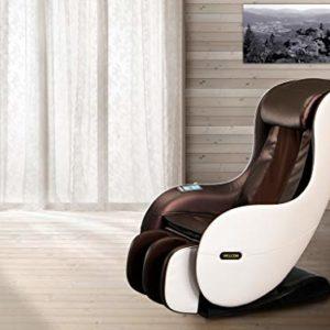 Massagesessel WELCON EASYRELAXX in beige braun mit Automatikprogrammen sowie manueller 3D Massage vom Nacken bis unter…
