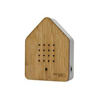 zwitcherbox Holz zwitscherbox, Eiche, Holz Eiche/weiß, 11x 12x 3cm