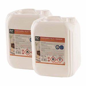 Höfer Chemie 30 L (3 x 10 L) Bioethanol 96,6% Premium – TÜV SÜD zertifizierte QUALITÄT – für Ethanol Kamin, Ethanol…
