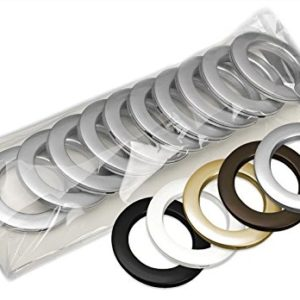 Haus und Deko 10er Pack Gardinenösen 35 mm Innendurchmesser mit Schablone Vorhang Ringe #1269 braun