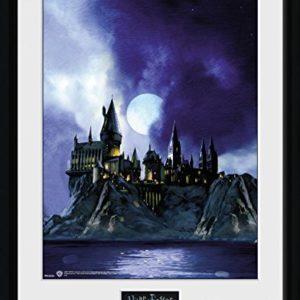 1art1 100196 Harry Potter – Die Hogwarts-Schule Für Hexerei Und Zauberei Gerahmtes Poster Für Fans Und Sammler 40 x 30 cm