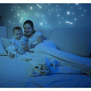 256 leuchtende Sterne, Sternschnuppen, Kreise und Punkte, selbstklebende Leuchtsticker für Schlaf- und Kinderzimmer
