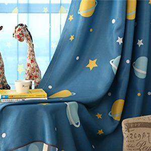 myru 2er-Set Karikatur Blickdichte vorhänge für Kinder Kinderzimmer