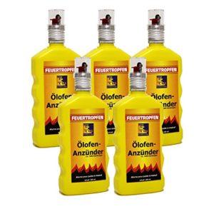 5x Ölofen-Anzünder TILL á 200ml = 1 Liter Ölofenanzünder Feuertropfen FLÜSSIG !