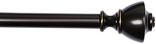 AmazonBasics – Gardinenstange, 2,54 cm, mit urnenförmige Endstücke