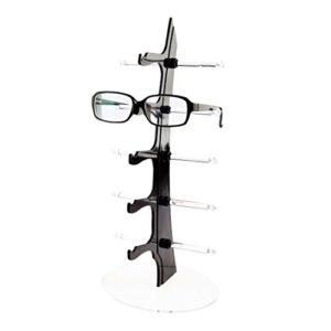BANDRA Sonenbrillen Aufbewahrung Ständer Brillenständer für 5 Brillen Schwarz