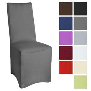 Beautissu Bankett-Stuhlhusse Leona – 45×90 cm Stretch-Stuhlbezug – Elegante Bi-Elastic Husse – ÖKO-TEX Standard Auswahl