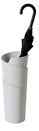 Casablanca – Schirmständer/Vase Swing Keramik weiß glasiert mit Kunststoff-Topf innen – Europäische Herstellung –
