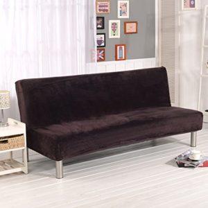 Dicker Sofaschutzüberzug, unifarben, Sofaschonbezug, elastischer Stretchstoff, mit festen Stretchhussen, ohne Lehnen…
