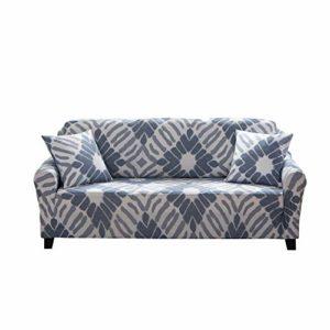 ENZER Sofa Bezug 1 2 3 4-Sitzer-Bettüberwurf Sessel Blumen Vogel Easy Stretch Elastischer Stoff Sofa Couch Cover…