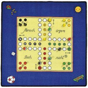 Eduplay Spielteppich Mensch Ärgere Dich Nicht, inklusive Spielfiguren und Anleitung