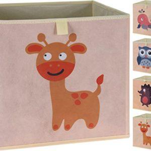 Faltbare Aufbewahrungsbox mit Tiermotiven | 4er Set
