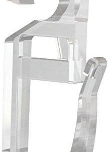 Flairdeco Überklipshaken Öse 6,2 mm mit Faltenhaken, Plastik, Transparent, 10 Stück