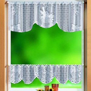 Gardinenbox Scheibengardinen Set 2 Teilig, 30/50×160, 33505, 33500