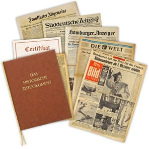 Geburtstagszeitung von 1938 – die historische Zeitung aus dem Jahr 1938 im Original