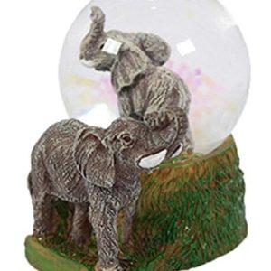 Glitzerkugel Elefant Schneekugel Tier Tiere Schneekugeln Elefanten