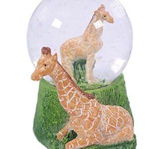 Glitzerkugel Giraffe Schneekugel Tier Tiere Schneekugeln Giraffen
