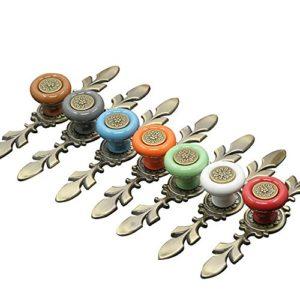 Godagoda Schublade Knöpfe für Kommode Kleiderschrank Tür Vintage Zink Legierung und Keramik Schrankgriffe Möbelknauf…