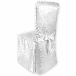 Gräfenstayn® Stuhlhusse Sofia mit Jacquard Muster und eingearbeiteter Schleife