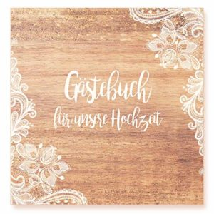 Edition Seidel Premium Gästebuch zur Hochzeit – Hochwertiges Hardcover-Buch mit 144 weißen Seiten Format 21 x 21 cm…