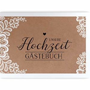 bigdaygraphix Gästebuch Hochzeit ohne Fragen – DIN A4 quer – Hochzeitsbuch 104 Leere Seiten | Hochzeitsgästebuch blanko…