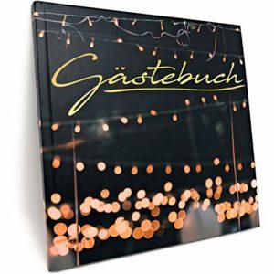 Gästebuch für Hochzeit Geburtstag Party – Mattes Hardcover mit 100 blanko Seiten und hochwertiger Fadenbindung
