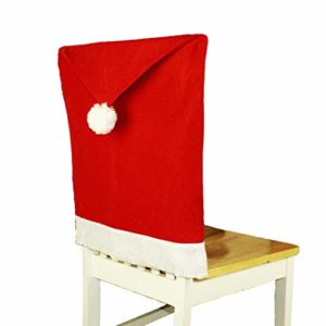 HAAC 12er Set Stuhlhusse Mütze Motiv Weihnachtsmütze Filz Farbe rot Weihnacht Weihnachten