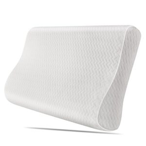HOMFA Nackenkissen Orthopädische Nackenstützkissen Kopfkissen Memory Foam Schlafkissen Pflegekissen Ergonomische Antischnarchkissen mit Waschbarem Bezug 50x30x10cm