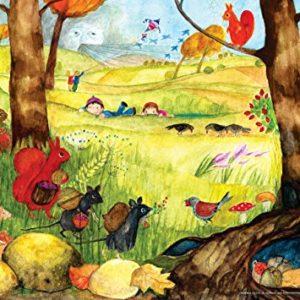 Herbstposter fürs Kinderzimmer von Eva Maria Ott-Heidmann – Herbsttreiben vom schnurverlag