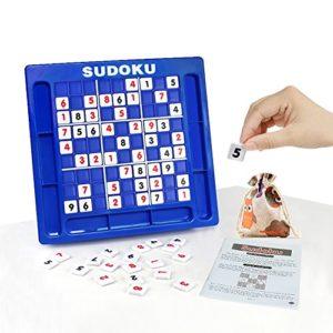 JUNSHEN Sudoku Puzzles Jigsaw Spielbrett,Klassisches Puzzle Spielzeug Gehirn Digital Puzzle Spielzeug für Kinder und Erwachsene