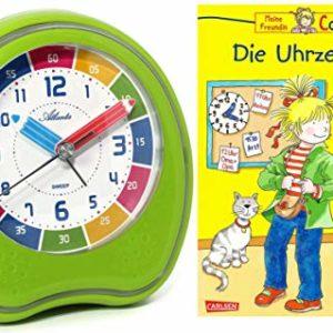 Kinderwecker Ohne Ticken Jungen Mädchen mit Lernbuch Conni Buch Uhrzeit Lernen – 1953-6 BU