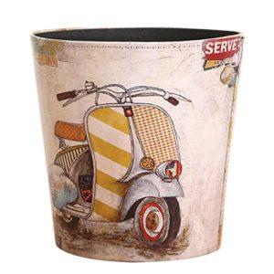 MAJOZ Papierkörbe 26 * 26 * 26CM Vintage Papierkorb Mülleimer Wasserdicht Haushalt Leder Mülleimer Dekorativ Papierkorb…